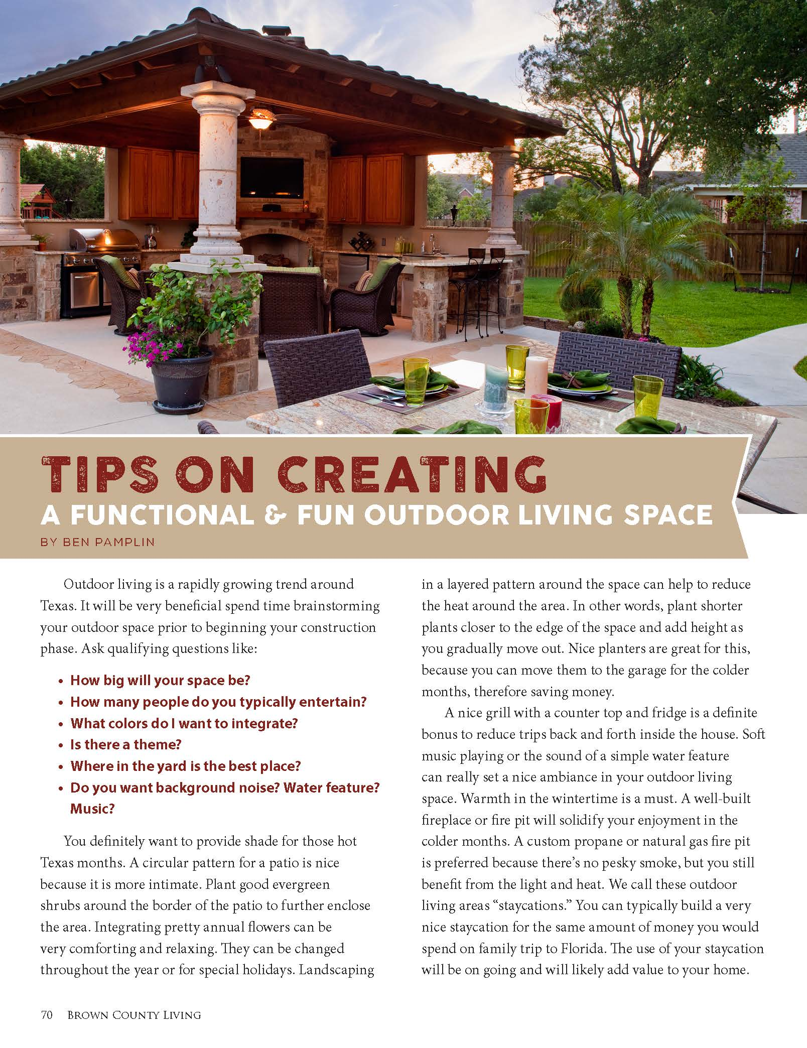 Tips On Creating A Functional And Fun Outdoor Living Space.  Bcl_outdoorliving